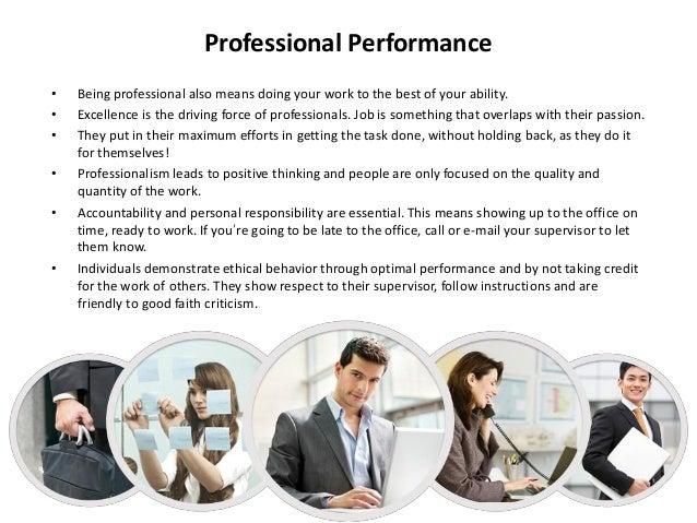 proffesionalism workplace