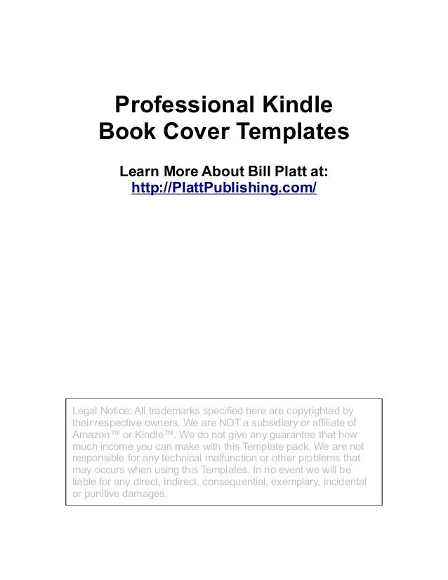Professional Kindle Book Cover Templates