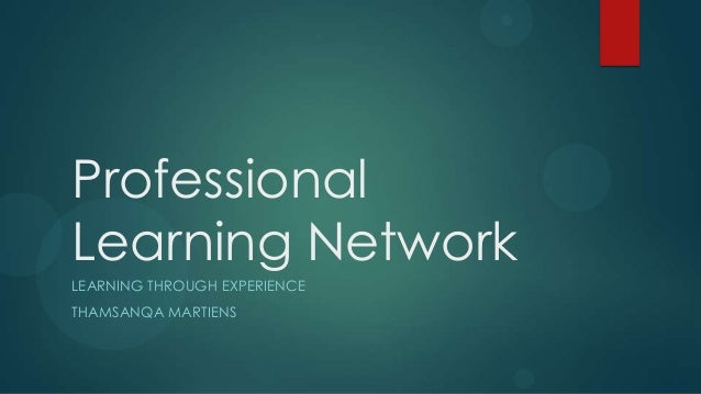 ProfessionalLearning NetworkLEARNING THROUGH EXPERIENCETHAMSANQA MARTIENS