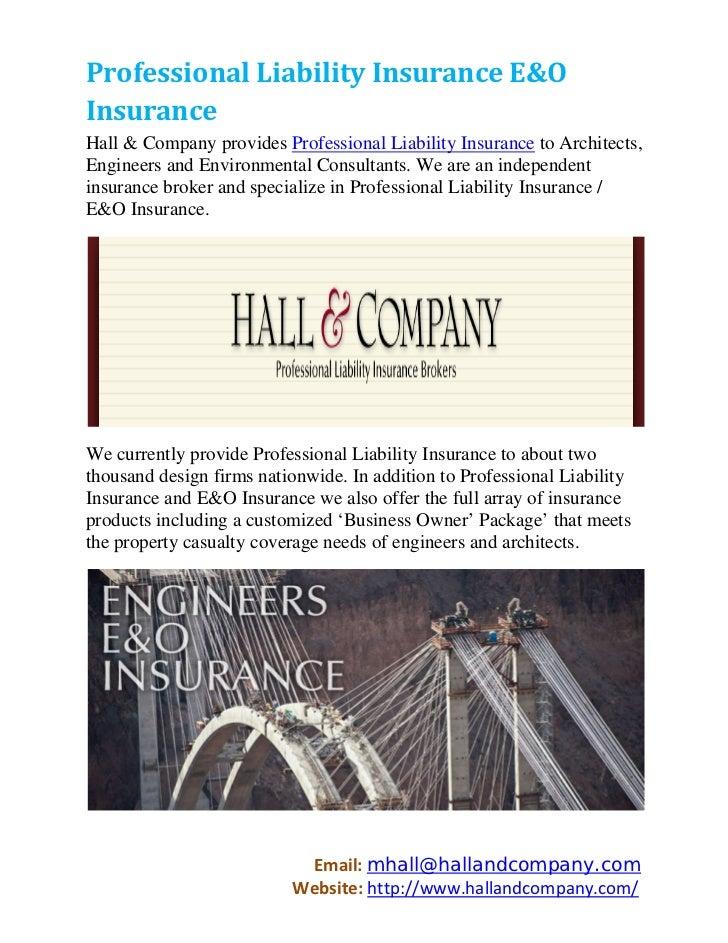 Professional Liability Insurance E&O Insurance
