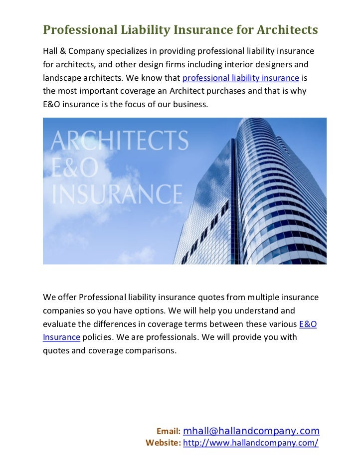 Merveilleux Professional Liability Insurance For ArchitectsHall U0026 Company Specializes  In Providing Professional Liability Insurancefor.