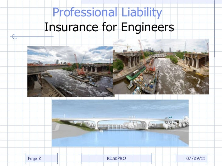 Professional liability insurance for engineers