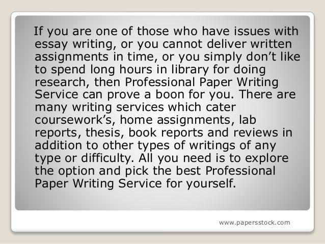 Writing paper services yourself