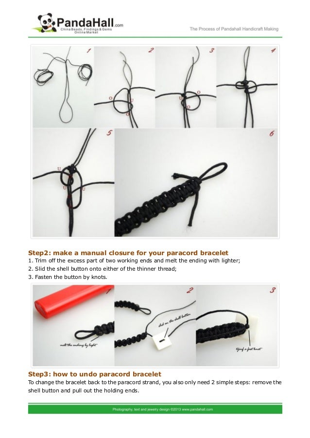 Professional Paracord Bracelets Instructions And The Way