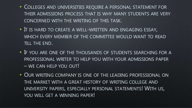 Professional personal statement writers tips