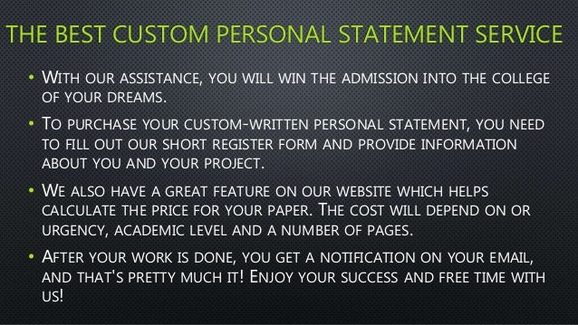 Personal statement writing services study