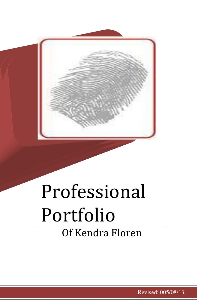 cover page for professional portfolio