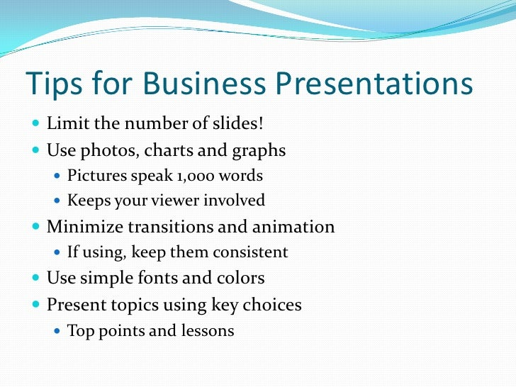 professional presentations for business