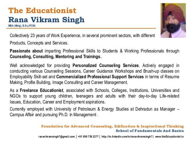 professional profile