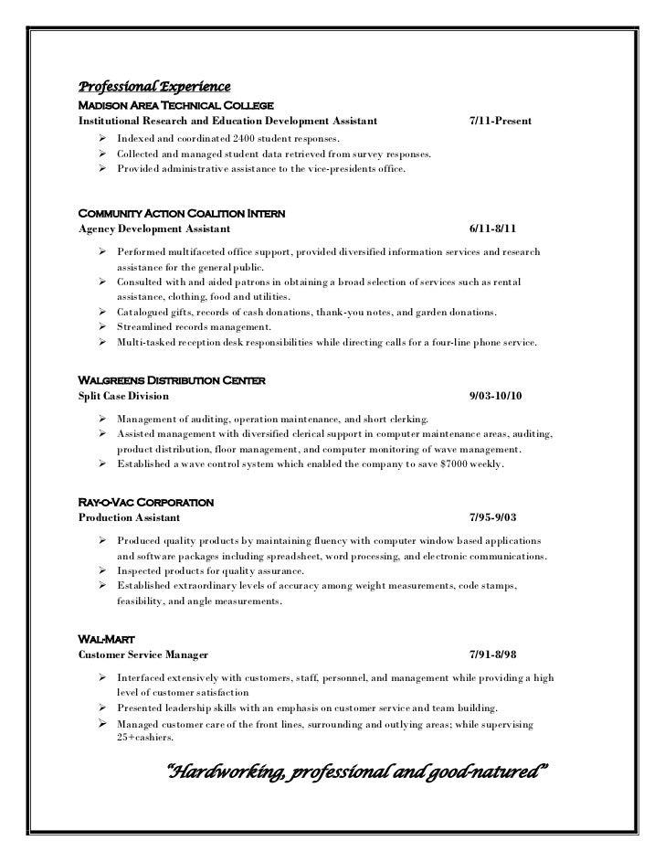 professional profile in resume