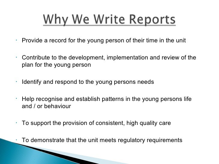how to write a social case work report
