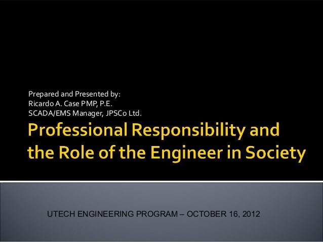 essay on role of engineer in society