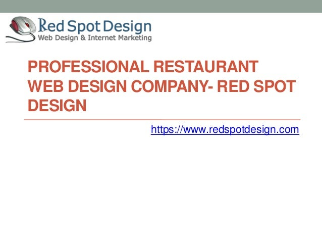 Professional restaurant web design company red spot