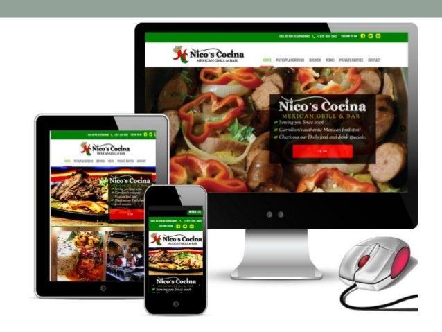 Professional restaurant web design company red spot