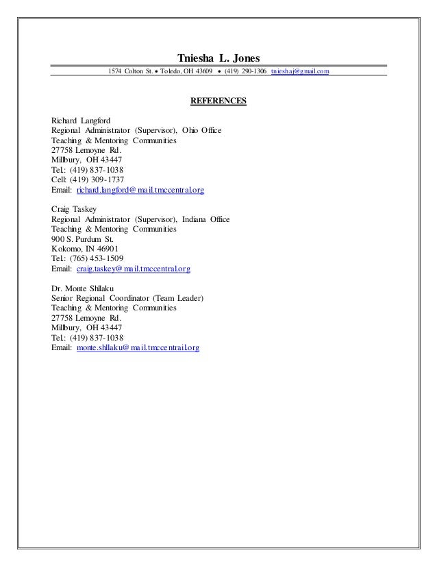 reference page for resume professional resume 1038