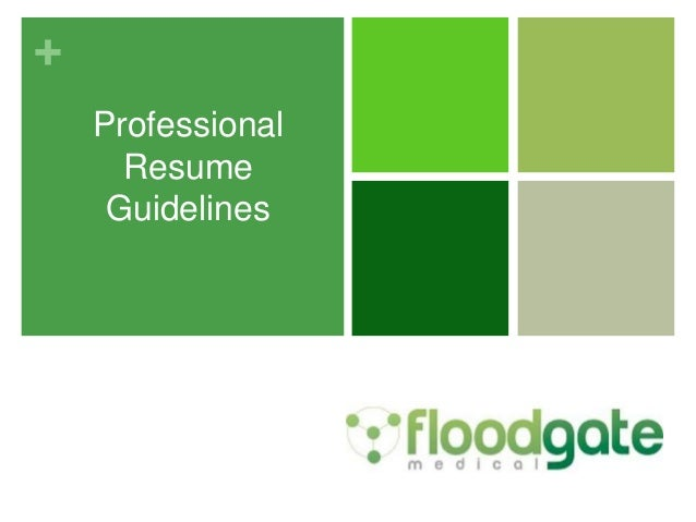 professional resume guidelines