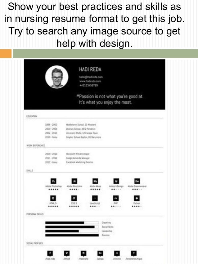 Professional resume format 2016