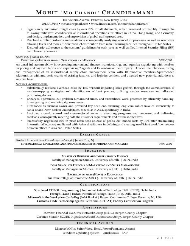 Resume near NEW JERSEY