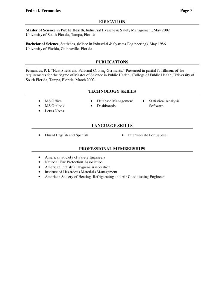 professional resume pif july 2011