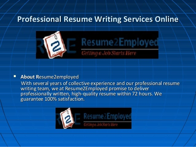 Online professional resume writing services 2014
