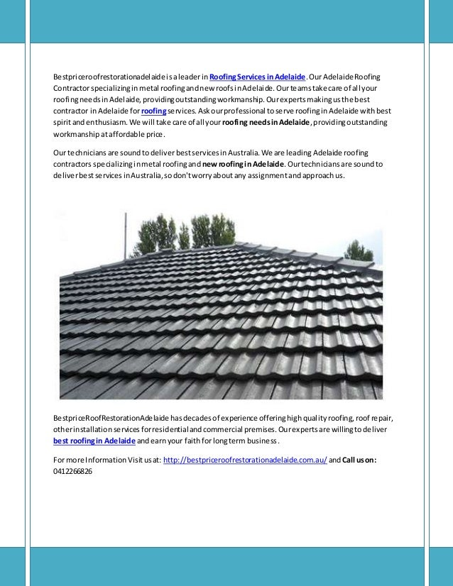 Roofing Services In Adelaide