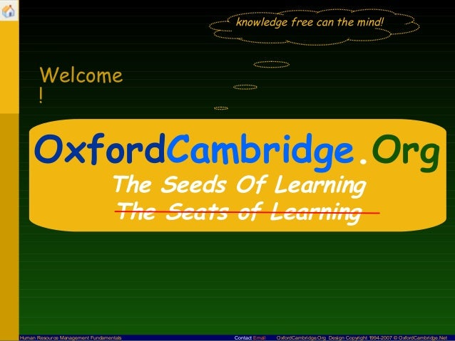 knowledge free can the mind!       Welcome       !     OxfordCambridge.Org                                 The Seeds Of Le...