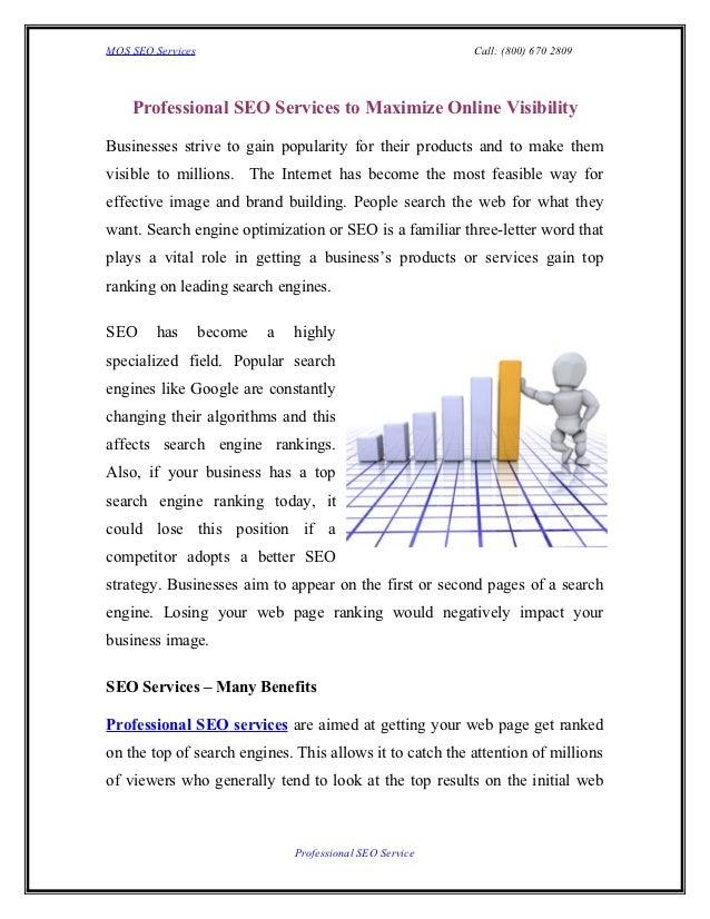MOS SEO Services                                           Call: (800) 670 2809    Professional SEO Services to Maximize O...