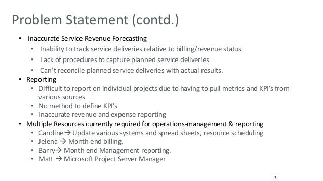 Problem statement for reservation system and billing system