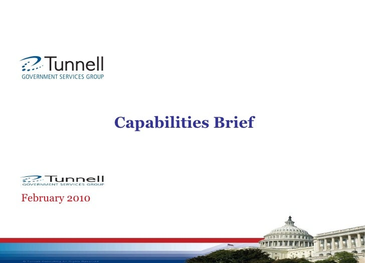 Capabilities Brief February 2010 GOVERNMENT SERVICES