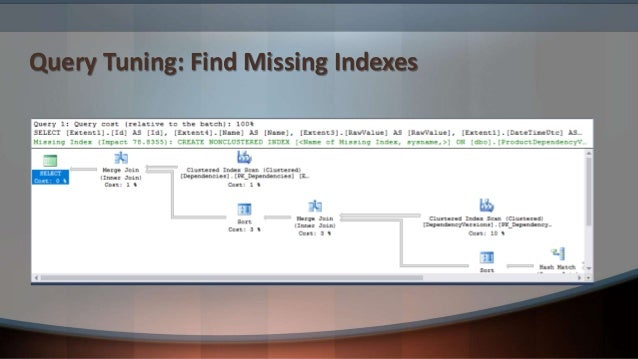 Query Tuning: Analyzing Query Plans