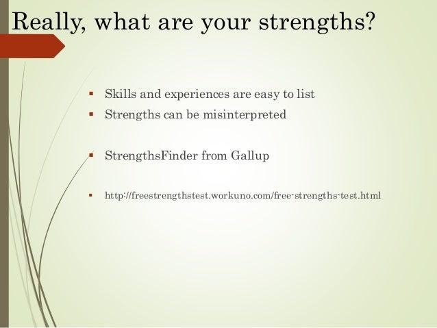 list professional strengths