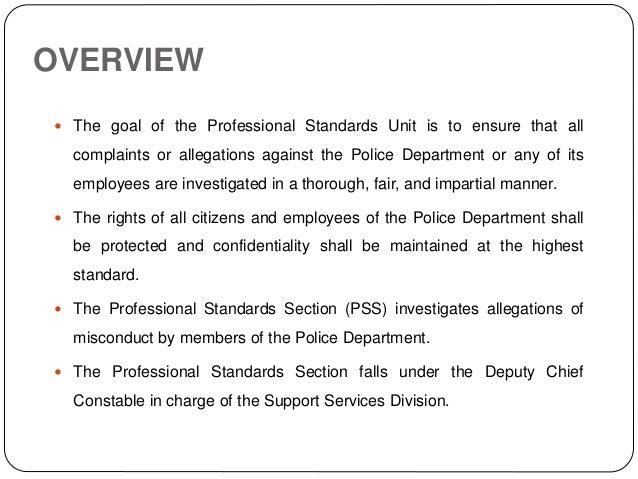 Professional Standards Unit