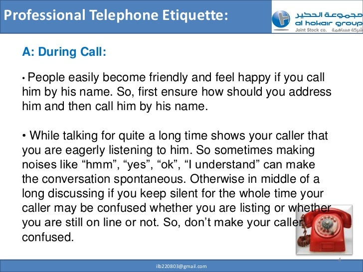 how to make a professional phone call