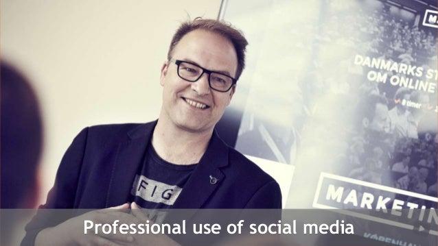 Professional use of social media