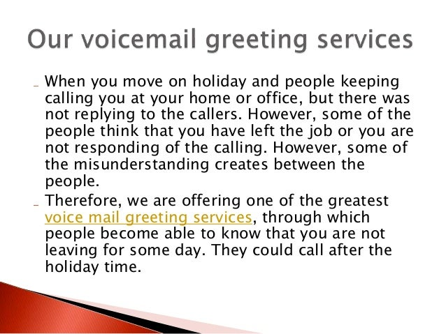 Professional voicemail greeting m4hsunfo