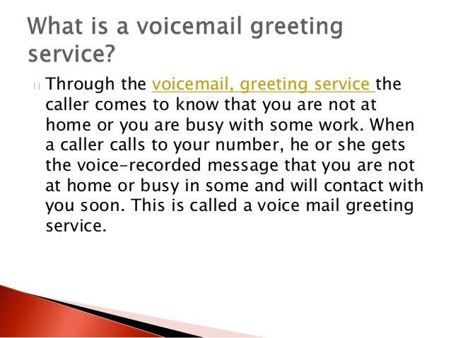 Professional voicemail greeting 2 through the voicemail greeting m4hsunfo Image collections