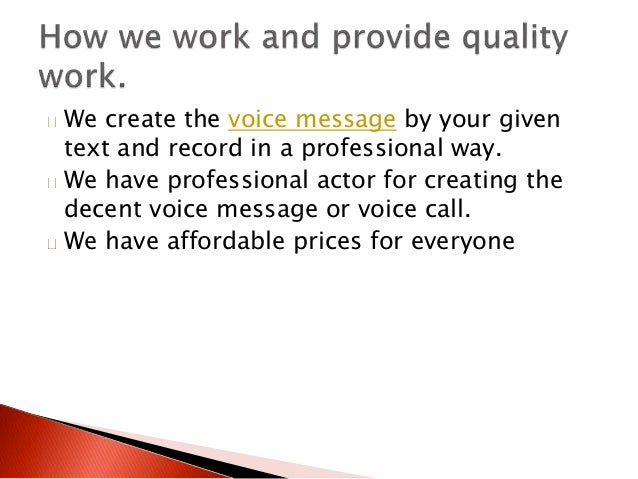 Professional voicemail greeting 4 we create the voice message m4hsunfo Image collections