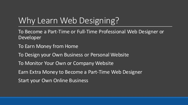 3. Why Learn Web Designing?