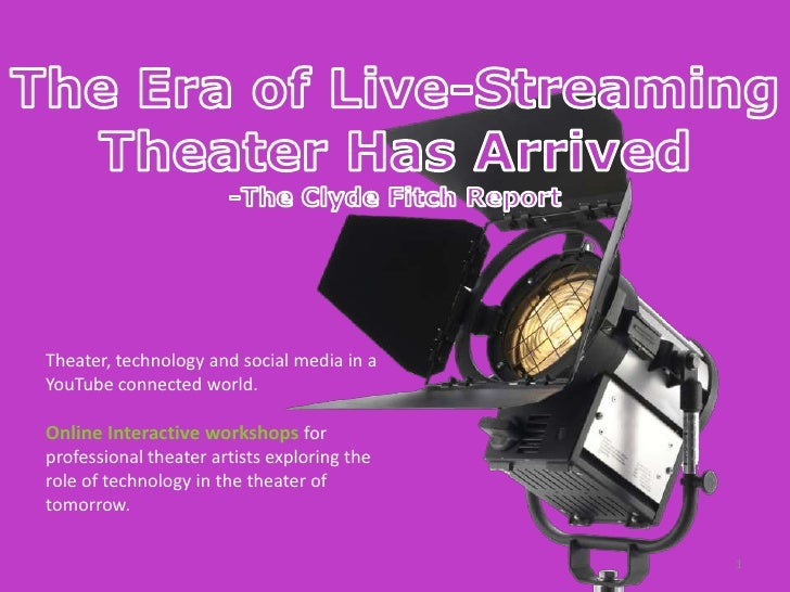 Live Streaming Interactive Theater Workshops for Professional Theater Artists