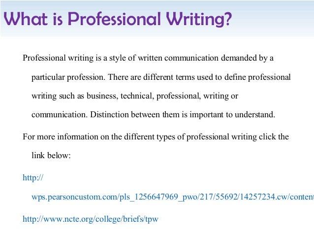 Profession of writing