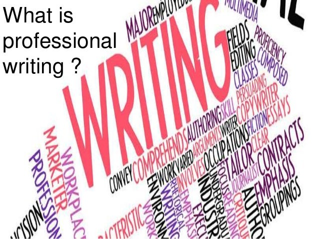 Writing professional