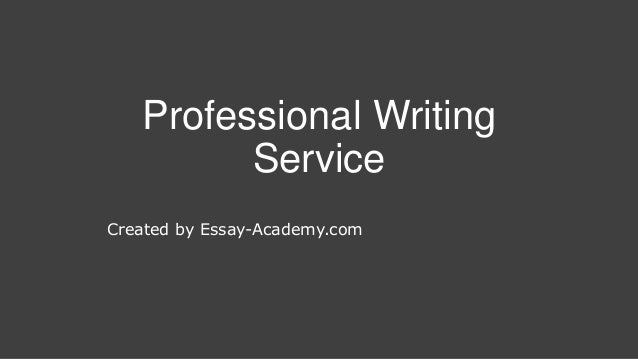 Professional writer service