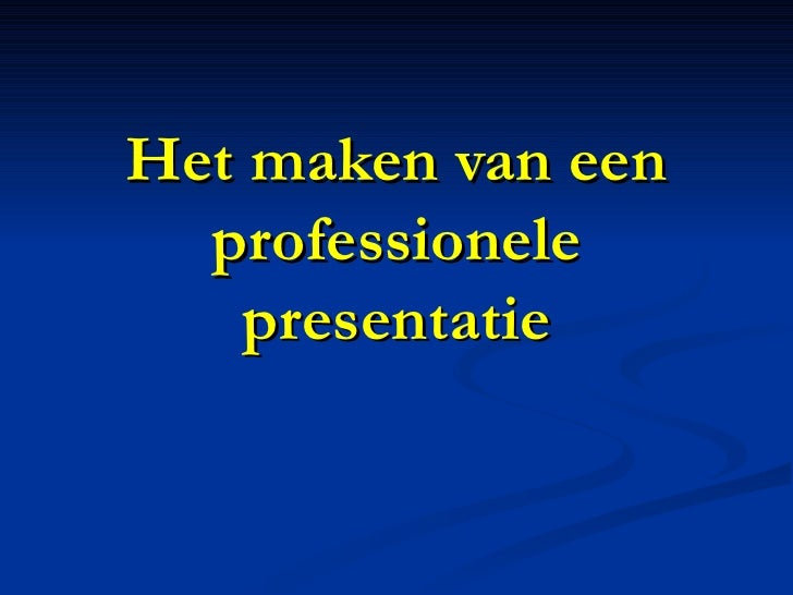 Power Presentaties - Taking PowerPoint to the next level