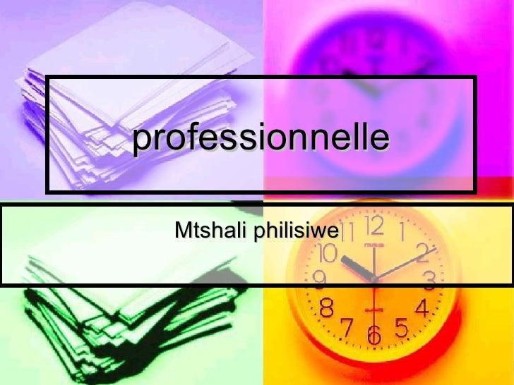 professionnelle Mtshali philisiwe