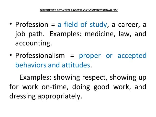 profession examples