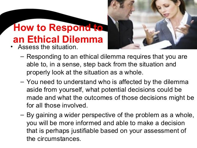 an introduction to the analysis of an ethical dilemma Learn how to write an ethics essay here find more ethics essay writing tips, free ethics essay topics and free ethics essay examples order ethics essay format does not differ from formats of other essay types introduction, body and conclusions are compulsory parts of any ethics essay.