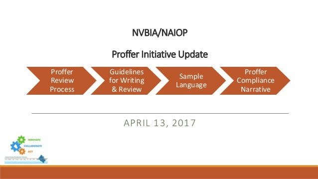Nvbianaiop Proffer Initiative Update April 13 2017