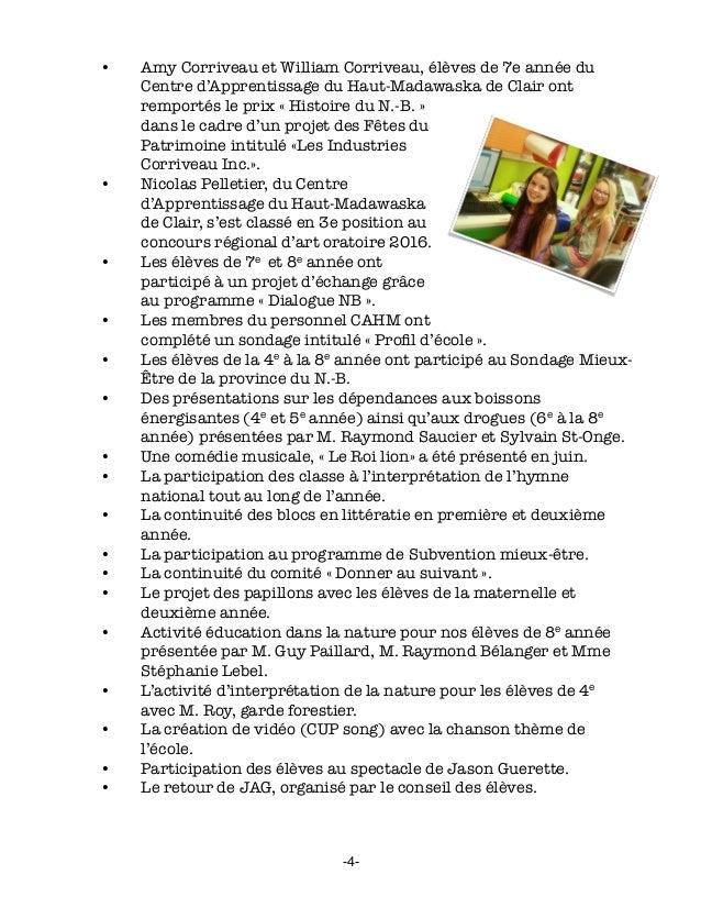 • Amy Corriveau et William Corriveau, élèves de 7e année du Centre d'Apprentissage du Haut-Madawaska de Clair ont remport...