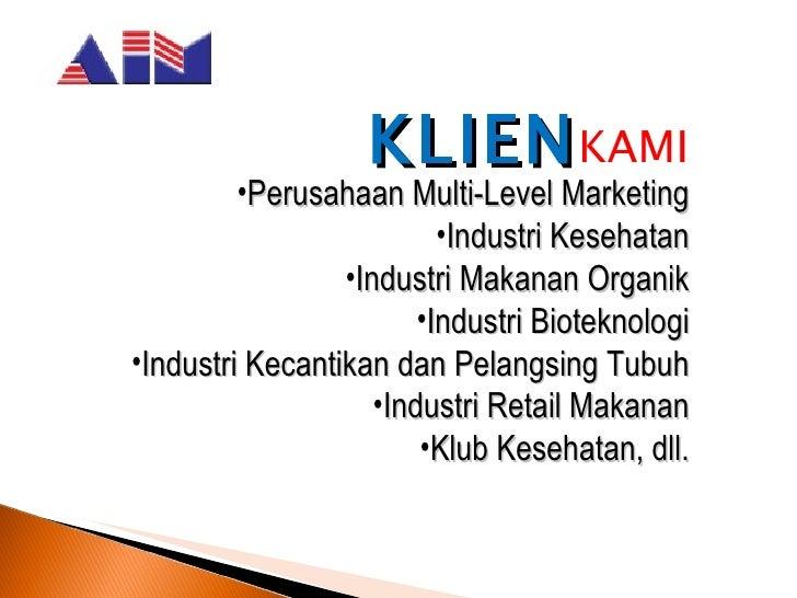 Daftar Alamat Perusahaan Multi Level Marketing Mlm Di Company Profile Aim Food Indonesia