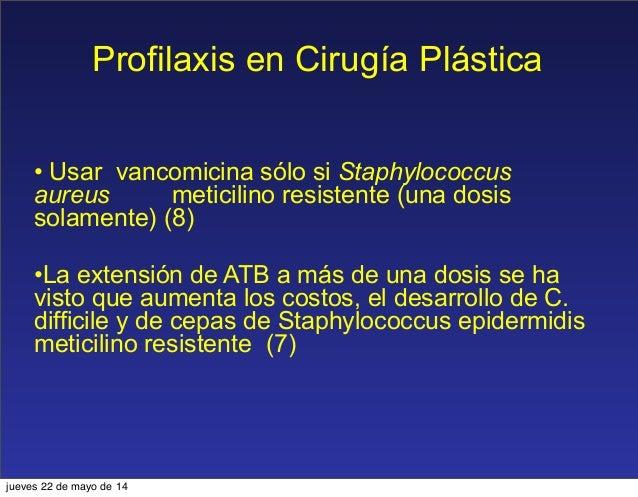 Profilaxis antibiotica en cirugía plástica
